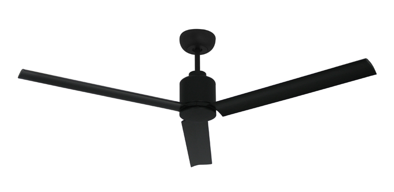 Ceiling fans with metal blades