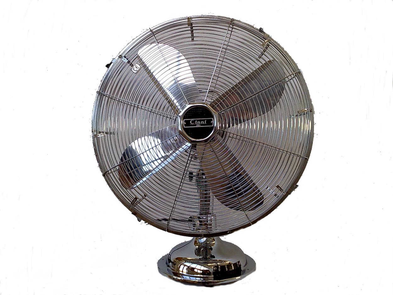 Ventilatore da tavolo cinni cromato
