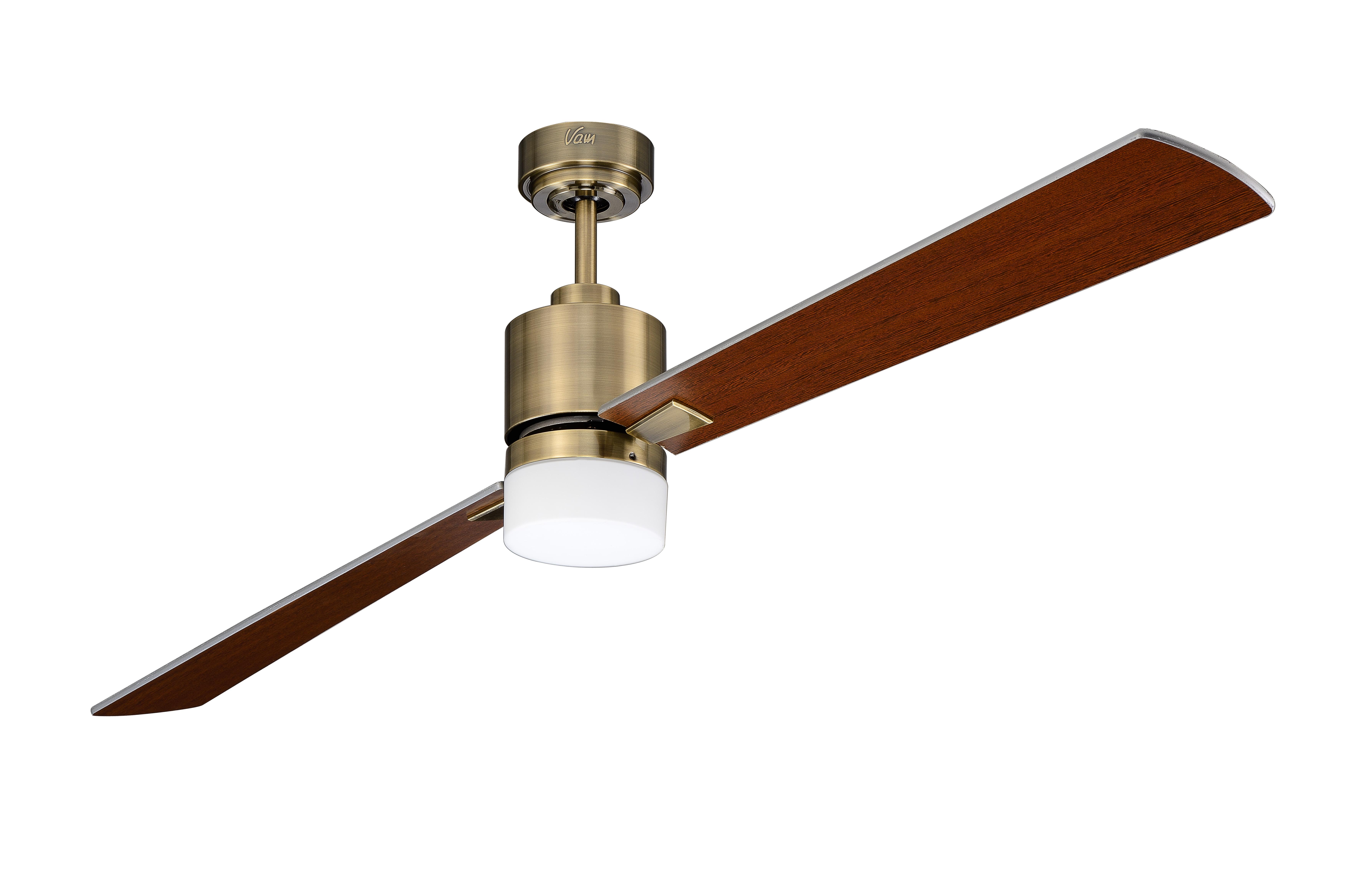 Ceiling fan FACTORY antique brass 90 CM