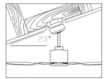 Energiespar Deckenventilator FACTORY schwarz 180 cm