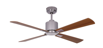 Ceiling fan FACTORY CHROME 112 CM