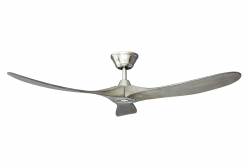 Ceiling fan KOA nickel grey 152 cm