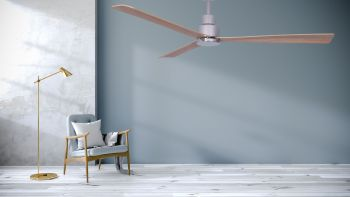 Ceiling fan MYNG chrome 132 cm