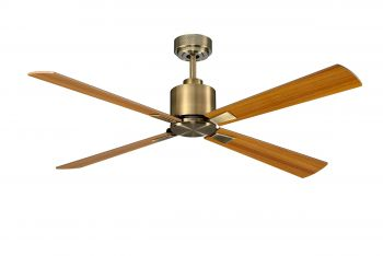 Ceiling fan FACTORY antique brass 90 CM