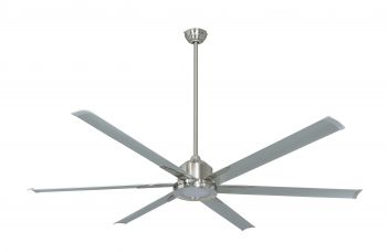 Ceiling fan THE BIG II brushed nickel 183 CM