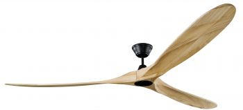 Ceiling fan KOA black natural 252 cm