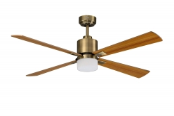 Ceiling fan FACTORY antique brass 107 CM