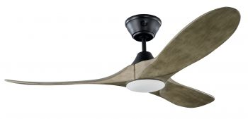 Ceiling fan KOA Black grey-wash with LED