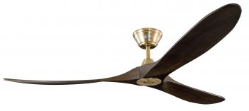Ceiling fan KOA burnished brass walnut 178 cm