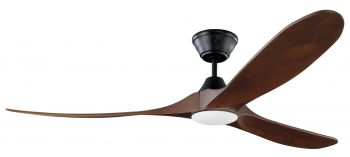 Ceiling fan KOA Black with LED