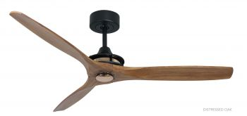 Ceiling fan HYPE Black rose brass distressed oak