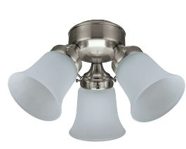 Ceiling fan light kit 3 light flush