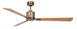 Ceiling fan FACTORY antique brass 132 CM
