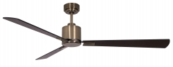 Ceiling fan FACTORY antique brass 157 CM