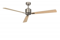 Ceiling fan FACTORY brushed nickel 157 CM