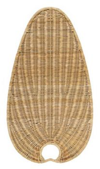 ISW4D natural wicker blades oval