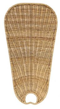 ISW7D natural wicker blades oval