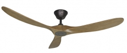 Ceiling fan KOA black oak 178 cm
