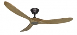 Ceiling fan KOA black oak 152 cm