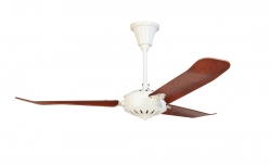 Ceiling fan LA MERIDIANA white/oak
