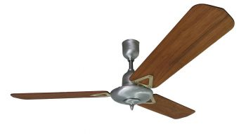 Ceiling fan STEEL teak