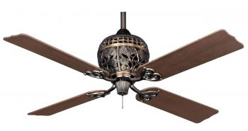 Hunter ceiling fan 1886 Series amber bronze